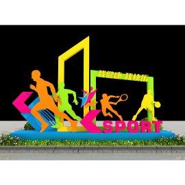 运动健康雕塑