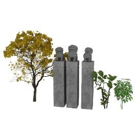 植物狮子3d模型