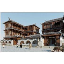 中式名宿古建筑