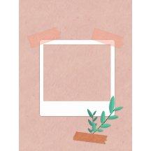 粉色淡雅拍照相框