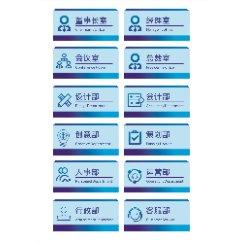 蓝色现代小清新企业门牌