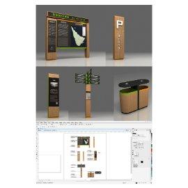 木质景区导视系统