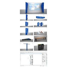 蓝色商场导视系统