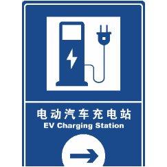 电动汽车充电站导视牌
