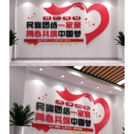 民族团结标语党建文化墙