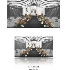 黑白浪漫婚礼效果图