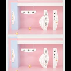 粉色现代商场门牌导视牌